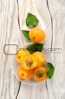 Apricots on the plate
