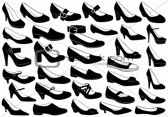 Shoes illustration set