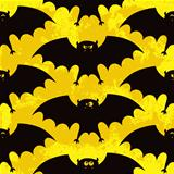 Halloween seamless pattern with funny bats
