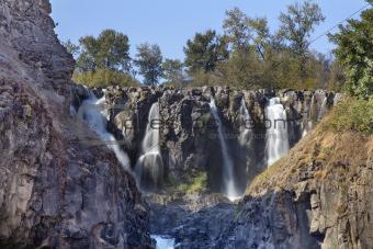 White River Falls Multiple Waterfalls in Oregon