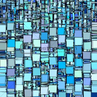 abstract fragmented backdrop pattern in blue