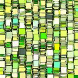 abstract fragmented backdrop pattern in green