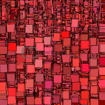 abstract fragmented backdrop pattern in red pink