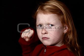 Angry young girl
