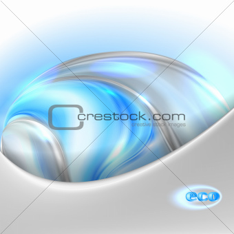 Abstract blue eco background