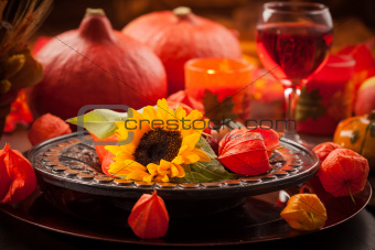 Autumn place setting
