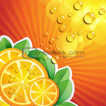 Slices orange