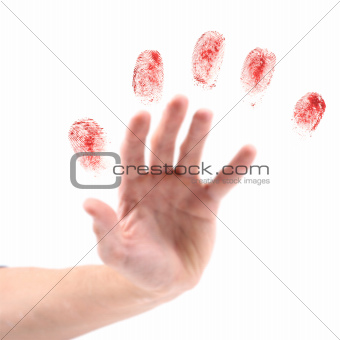 hand and fingerprints