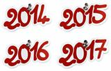 New year 2014, 2015, 2016, 2017
