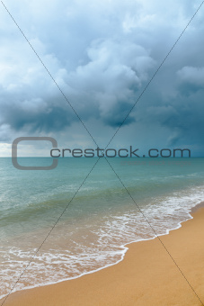 Storm cloud the sea