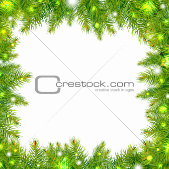 Christmas Tree Frame With Stars
