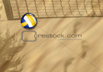 beach volleyball on sand