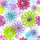 Seamless colorful floral pattern