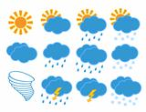 Set of different weather icons.
