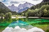 Lake Jasna near Kranjska Gora, Slovenia.