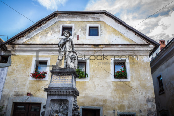 Statue of Josipini Hocevarjevi, Radovljica, Slovenia.