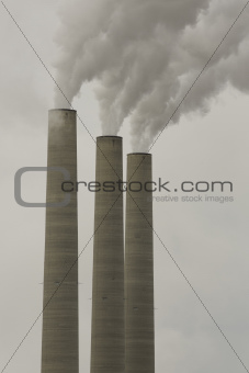 Industrial chimneys in the Arizona