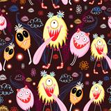 Texture of funny monsters