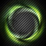 Green ring on dark square texture