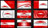 Concept business cards. Red style