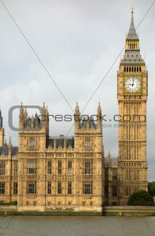 Big Ben Elizabeth tower Houses of Parliament London.