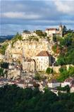 Rocamadour village vertical view, France