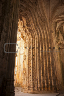 Detail of Batalha monastery