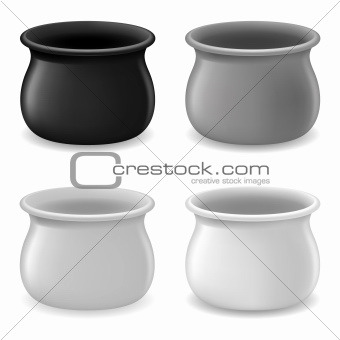 Empty color Pots