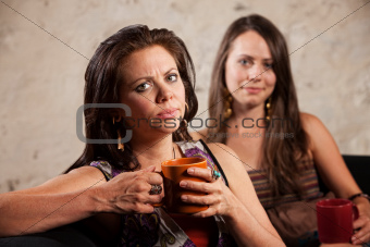 Disappointed Woman with Friend
