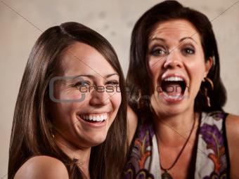Pair of Ladies Laughing