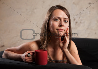 Thoughtful Lady with Cup