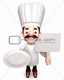 Shop the Chef to Promote, 3D Chef Character