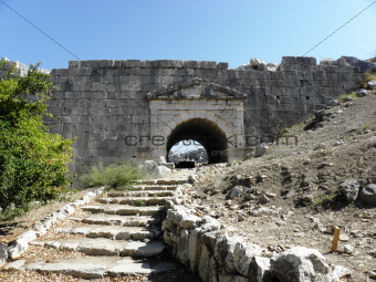 Entrance of the amphitheater in Letoon