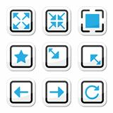 Web page screen size icons set