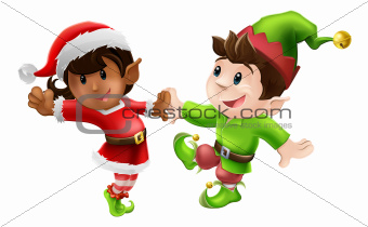 Christmas Elves Dancing