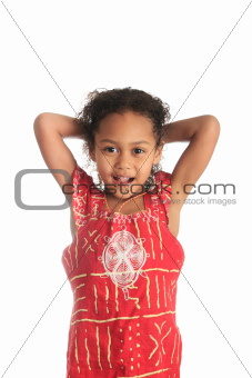 afro american beautiful girl children with black curly hair