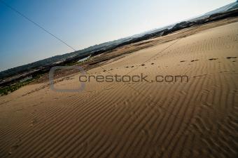 sand in Sampanbok in Mekong River