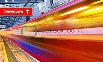 high speed metro train