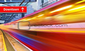 high speed metro train