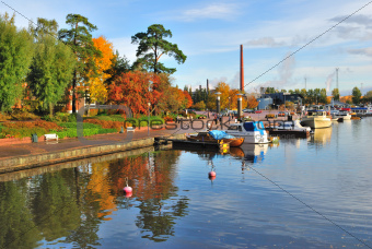 Kotka in autumn