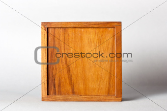 yellow square Wooden box
