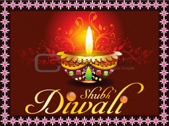 abstract dark diwali card design