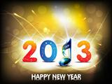 abstract new year background with musical word