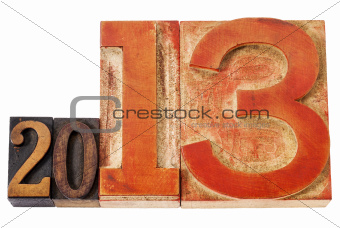 year 2013 in wood type