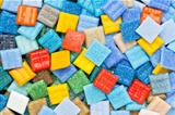colorful glass mosaic tiles