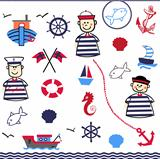 Digital Collage of Nautical