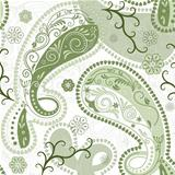 Green-white seamless pattern