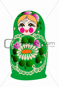 Matryoshka doll in vector