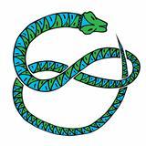snake green blue