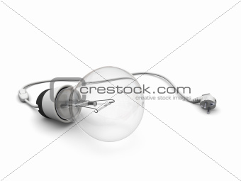 Lightbulb with power cord